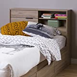 """Product review for South Shore Fynn 39"""" Headboard with Storage, Twin, Rustik Oak"""