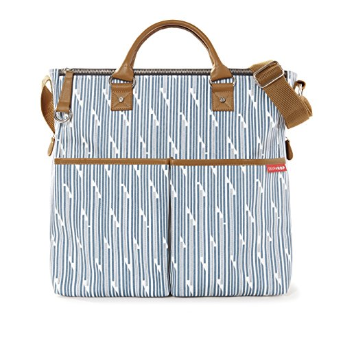 Skip Hop Duo Special Edition Carry All Travel Diaper Bag Tote with Multipockets, One Size, Blueprint Stripe