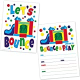 Bounce House Birthday Party Invitations - Kids Jump and Play Birthday Invites (20 Count with Envelopes)
