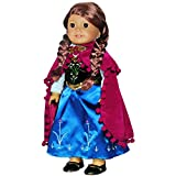 Pink Butterfly Closet Doll Clothes - Princess Anna Dress Outfit with Embroidered Details Fits American Girl Doll and 18 inch Dolls