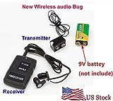 MINI Wireless transmitter receiver Audio monitor Covert FM sound Listening Device Ear monitor
