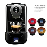 Lavazza Blue LB910 Single Serve Espresso Coffee Maker Bundle with 400 Mixed Lavazza Blue Capsules Pods