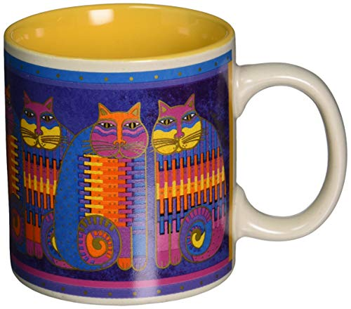 Laurel Burch Artistic Mug Collection, Rainbow Cat Cousins