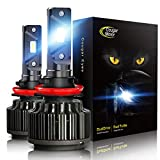 Cougar Motor H11 (H8, H9) LED Headlight Bulb, 10000 Lumens Super Bright All-in-One Conversion Kit - 6000K Cool White