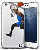 Epic Cases iPhone 6 Plus Case, for Apple iPhone, Ultra Slim Transparent Dominate the Basketball Court Series - Russ MVP, Clear Sports Case (iPhone) … (iPhone 6 Plus)