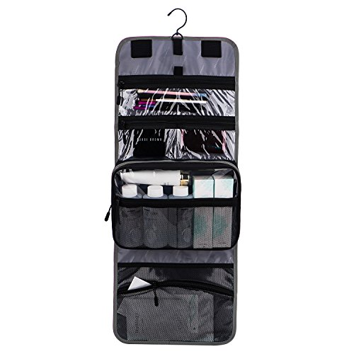 79ce25397709 BAGSMART All-in-one Large Cosmetic Makeup Bag Hanging Toiletry ...