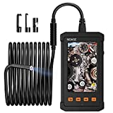 Industrial Endoscope, 5.5mm Borescope Camera 1080P HD 4.3inch Screen IP67 Waterproof Inspection Camera with 6 LED Lights, 2800mAh Battery Borescope with 8GB TF Card and Tool Box(11.5FT)