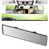 Yoolight Car Rearview Mirrors, 3R Car Universal 12''Interior Clip On Panoramic Rear View Mirror Wide Angle Rear View Mirror (Flat)