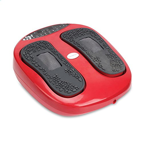 Hurtle Shiatsu Foot Massager Machine - Chinese Reflexology, Sitting Remote Control Option, Simple Cleaning Pads, 2 Functions Massage and Beating | Auto-Programs Adjustable Time & Settings - SLFTMSG20