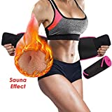 NANW Waist Trimmer Belt for Women Men - Waist Trainer with Phone Pouch, Adjustable Exercise Band Sweating Fitness Belt Accelerate Weight Loss & Fat Burning & Sauna Effect Neoprene Body Shaper Belt