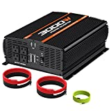 POTEK 3000W Power Inverter 4 AC Outlets DC 12V to 110V AC Car Inverter with 2 USB Port