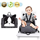 HOOMALL 3 in 1 Booster Seat Diaper Bag for Boys Girls/Mom Dad Backpack Multifunction Travel Back Pack Maternity Baby Nappy Changing Bags for Dining Table Planes and Trave (one Size, Black)