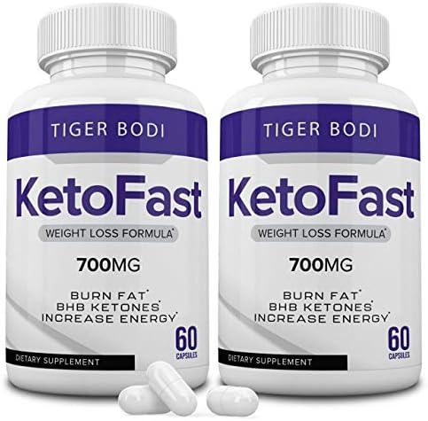 (2 Pack) Keto Fast Diet Pills, Keto Fast 700 mg Burn Capsules - Pure Keto Fast Supplement Burning for Energy - BHB Ultra Boost Exogenous Ketones for Rapid Ketosis for Men Women 3