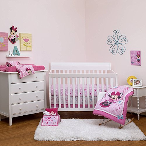 Disney Minnie Bows are Best 4 Piece Crib Bedding Set