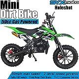 SYX MOTO Kids Mini Dirt Bike Gas Power 2-Stroke 50cc Motorcycle Holeshot Off Road Motorcycle Holeshot Pit Bike, Fully Automatic Transmission, Green