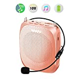 Portable Voice Amplifier SHIDU Personal Speaker Microphone Headset Rechargeable Mini Pa System for Teachers Tour Guides Coaches Classroom Singing Yoga Fitness Instructors