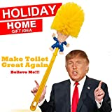 Donald Trump Toilet Brush Cleaner Scrubber Funny Trump Toilet Bowl Brush Gag Gift Doll for Bathroom Deep Cleaning Make Toilet Great Again (Shipping by FBA) Promo Only 3 Days