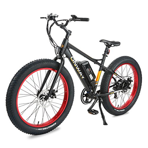 """Onway 26"""" Snow & Beach 7 Speed 36V 500W Fat Tire Electric Bicycle, with Pedal Assist"""
