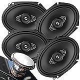 2 Pairs of Pioneer 5x7/ 6x8 Inch 4-Way 350 Watt Car Audio Speakers | TS-A6880F (4 Speakers) + Magnet