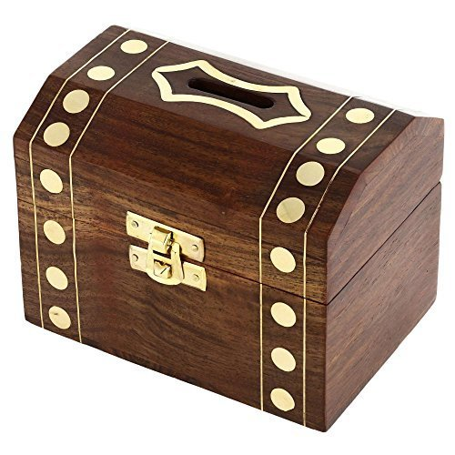 Handcrafted Wooden Box Treasure Chest...