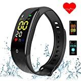 Coolhills Fitness Tracker HR, IP67 Waterproof Activity Tracker Pedometer Watch with Heart Rate & Sleep Monitor,Step Counter,Calories Burned Smart Bracelet for Men,Women