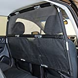 Bushwhacker - Paws n Claws Deluxe Dog Barrier 56' Wide - Ideal for Trucks, Large SUVs, Full Sized Sedans - Pet Restraint Car Backseat Divider Vehicle Gate Cargo Area Travel Trunk Mesh Net Screen