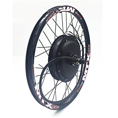"""48V/60V/72V 3000W Electric Bike Conversion Kit, 17""""-26"""" Double-wall Alloy Rims, with sine wave programmable controller , Twist throttle with LED Display and Electric Power Switch. (26 inch)"""