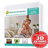 SOPAT Queen Mattress Protector 100% Waterproof Mattress Pad Cover,3D Air Fabric,Breathable Smooth Soft Cover
