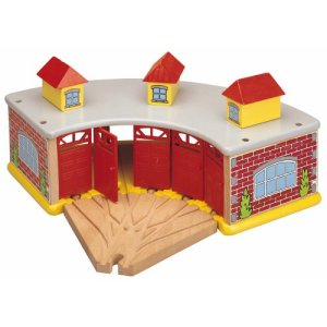Maxim Big Train Roundhouse with 5-Way Track 51LpjFGK11L