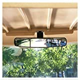 10L0L Golf Cart Rear View Mirror Without Vibration & Fall Off, 16.5' Extra Wide 180 Degree Panoramic Rear View Mirror for Golf Carts As Ez Go, Club Car, Yamaha
