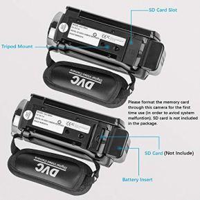 Video-Camera-Camcorder-kimire-Digital-Camera-Recorder-Full-HD-1080P-15FPS-24MP-30-Inch-270-Degree-Rotation-LCD-16X-Digital-Zoom-Camcorder-Camera-with-2-BatteriesBlack