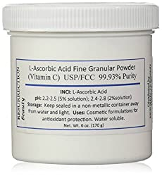 L-Ascorbic Acid Powder USP/FCC Grade (Vitamin C), 6 oz. Jar
