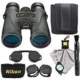 Nikon Monarch 5 10x42 Binoculars (7577) Waterproof/Fogproof Bundle with Nikon Lens Pen, Cleaning Cloth and Lumintrail Keychain Light