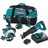 Makita XT505 18V LXT Lithium-Ion Cordless Combo Kit, 5 Piece
