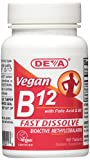 Deva Vegan Vitamins Sublingual B12 1000 mcg Tablets, 90 Count