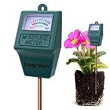 Longruner Moisture Meter, Indoor/Outdoor Soil Moisture Sensor Meter,Soil Water Monitor, Hydrometer for Garden, Farm, Lawn Plants (No Battery Needed) (2 in 1)