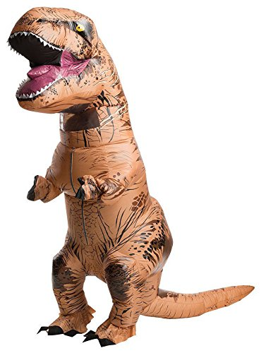 Authentic Adult TREX Inflatable Jurassic World Blowup Dinosaur Halloween Costume
