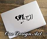 Sold by A Good Decals USA Mad Spy vs Spy Decal for MacBook Air Pro Laptop Home Decor Chip Mural Arts Adhesive vinyl for apple notebook adell