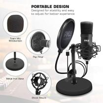 USB-Microphone-Podcast-Recording-Kit-Audio-Cardioid-Condenser-Mic-w-Desktop-Stand-and-Pop-Filter-For-Gaming-PS4-Streaming-Podcasting-Studio-Youtube-Works-w-Windows-Mac-PC-Pyle-PDMIKT100