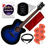 Dean AX PE BB Axcess Performer Acoustic-Electric Guitar, Blueburst with Accessory Bundle