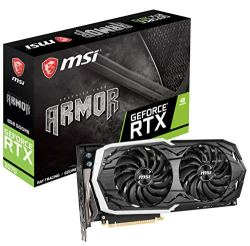 MSI Gaming GeForce RTX 2070 256-bit HDMI/DP/USB Ray Tracing Turing Architecture Graphics Card (RTX 2070 Armor 8G OC)