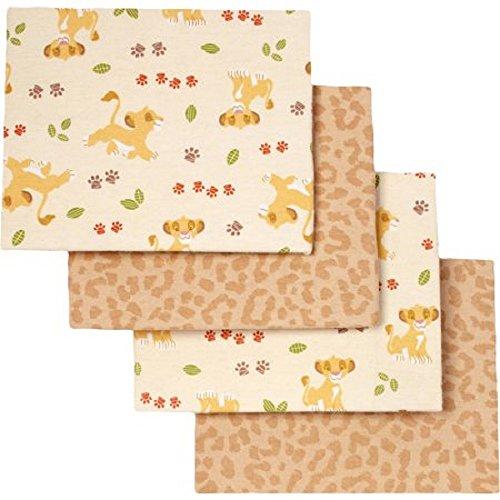 Disney Baby Lion King Under the Sun Flannel Blanket, 4 Pack