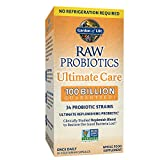 Garden of Life RAW Probiotics Ultimate Care Shelf Stable - 100 Billion CFU Guaranteed through Expiration, Once Daily - Certified Non-GMO & Gluten Free - No Refrigeration - 30 Vegetarian Capsules