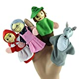 Children Educational Toy, Malltop Cute 4PCS Little Riding Hood Finger Puppets Christmas Gifts Storytelling Doll
