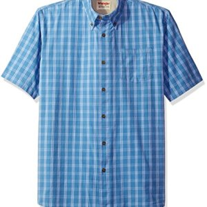 Wrangler Authentics Men's Short Sleeve Plaid Woven Shirt 10 Fashion Online Shop 🆓 Gifts for her Gifts for him womens full figure