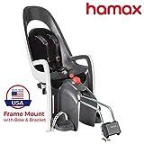 Hamax Caress Rear Child Bike Seat (Grey/White, Frame Mount)