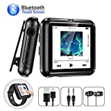 MP3 Player, Gueray 8GB Bluetooth MP3 Player with Clip Sport Watch Strap Full Touch Screen Portable Music Player Supports FM Radio Voice Recorder Video E-Book TF Card up to 128GB