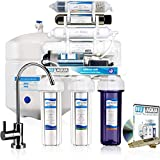 NU Aqua Platinum Series 100GPD Under Sink Reverse Osmosis Drinking Water Filtration System - Premium Water Filter (7 Stage UV and Alkaline With Pump)