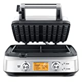 Breville BWM640XL Smart 4-Slice Waffle Maker, Silver