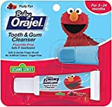 Orajel Baby Elmo Tooth and Gum Cleanser with Finger Brush, Fruity Fun, 0.7 Oz - Pack of 3
